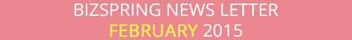 BIZSPRING NEWS LETTER FEBRUARY 2015
