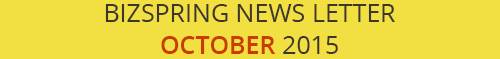 BIZSPRING NEWS LETTER OCTOBER 2015