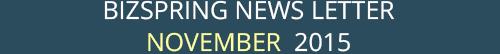 BIZSPRING NEWS LETTER NOVEMBER 2015