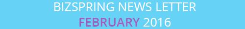 BIZSPRING NEWS LETTER FEBRUARY 2016