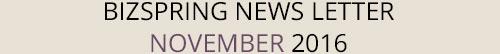 BIZSPRING NEWS LETTER NOVEMBER 2016